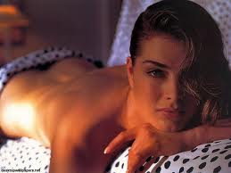 brooke shields without bra, breast exposed