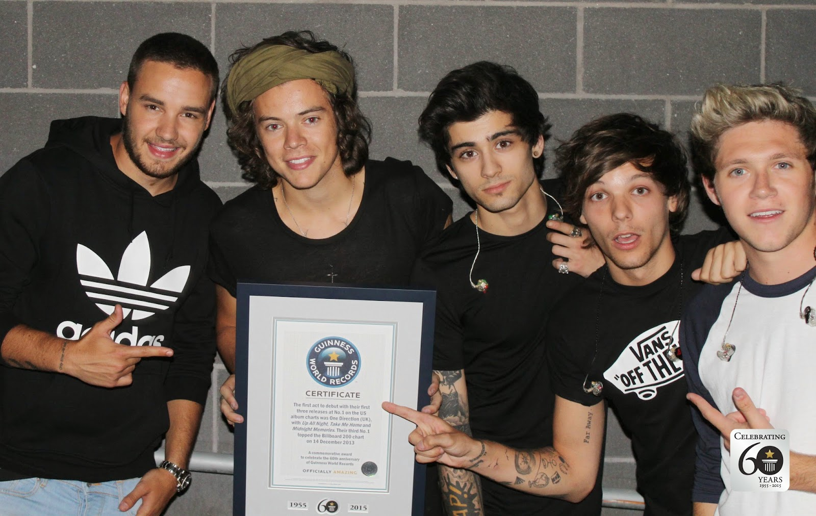 one direction, guiness world records, anniversary, four, harry styles, liam payne, louis tomlinson, niall horan, zayn malik,