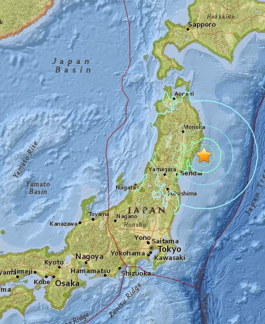 Magnitude 6.8 Earthquake of Ofunato, Japan