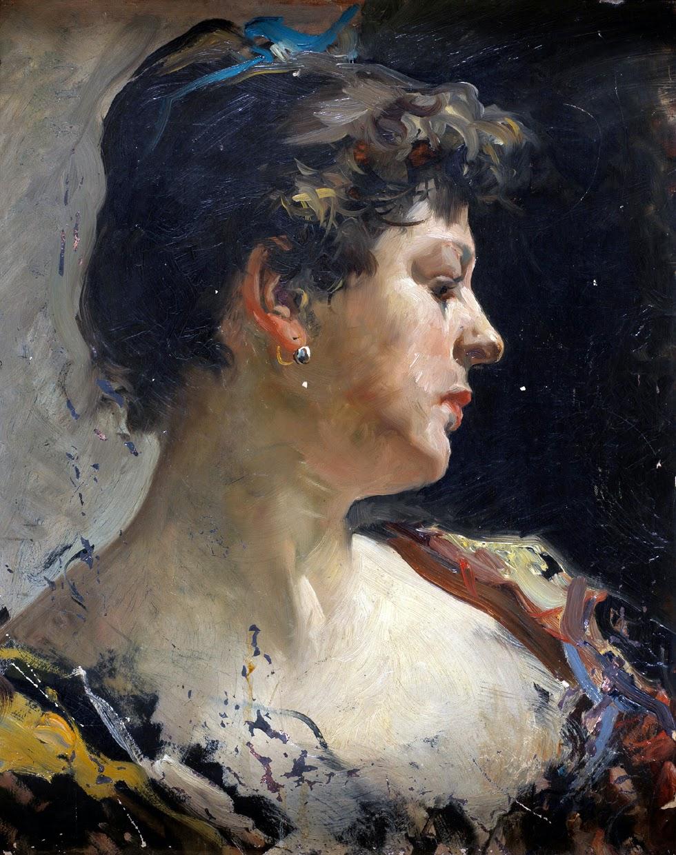 Mujer de PerfilPerfil de mujer, Joaquín Sorolla, Retratos, Pintores Valencianos