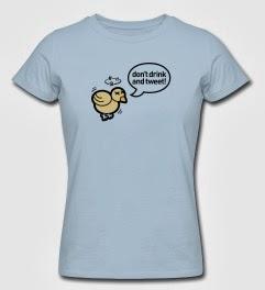 Camiseta no tuitear y beber