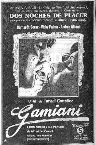 gamiani movie pelicula ismael gonzalez musset