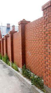 Кирпичный забор. Фото 34
