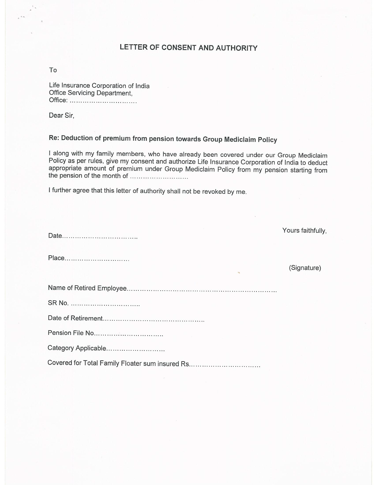 Sample Of Authorization Letter To Get Nso Birth