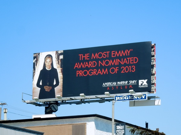 American Horror Story Asylum Most Emmy nominated show 2013 billboard