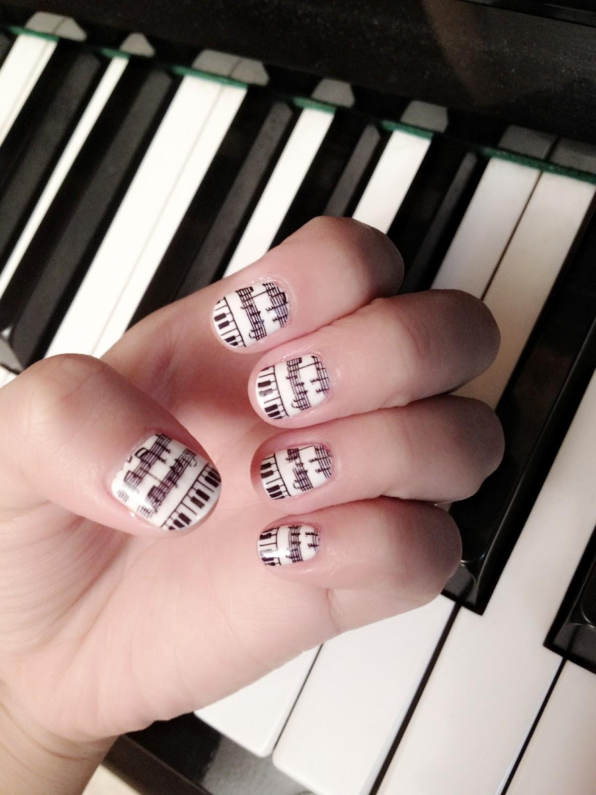 Sharp as nails a nail art blog music inspired nail art music inspired nail art prinsesfo Images