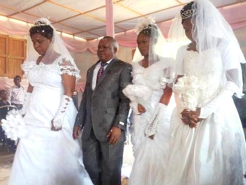 wonders shall never end man marries 3 wives in church in zaire