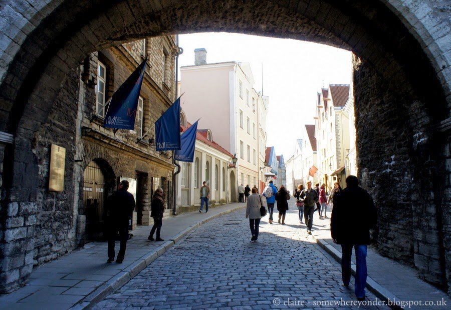 Entering Tallinn's medieval Old Town