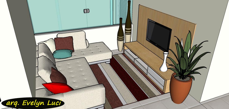 Sala de estar pequena com sofa de canto e tv for Sofa para sala de tv