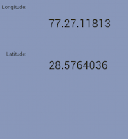 Latitude and Longitude of current Location in Android