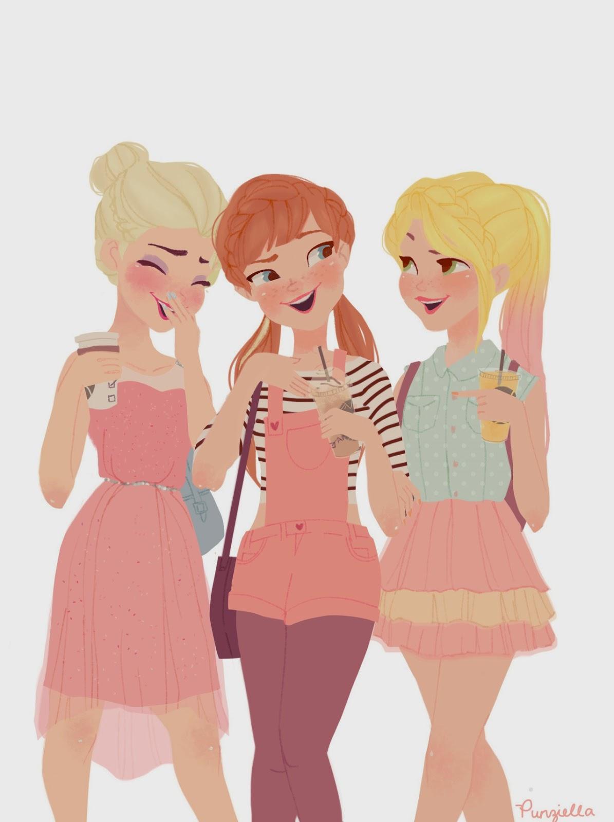Le Principesse Disney Nella Visione Della Giovanissima Disegnatrice