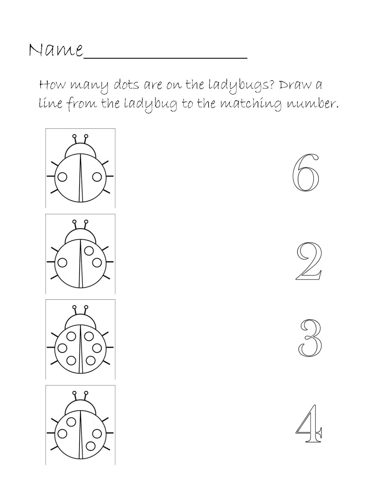 Ladybug Printable Worksheets : Printable homeschool september