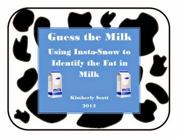 http://www.teacherspayteachers.com/Product/Guess-the-Milk-Using-Insta-Snow-to-Identify-the-Fat-in-Milk-1585249