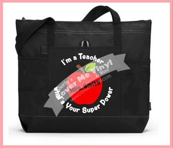 Teacher Apple Super Power Tote Bag