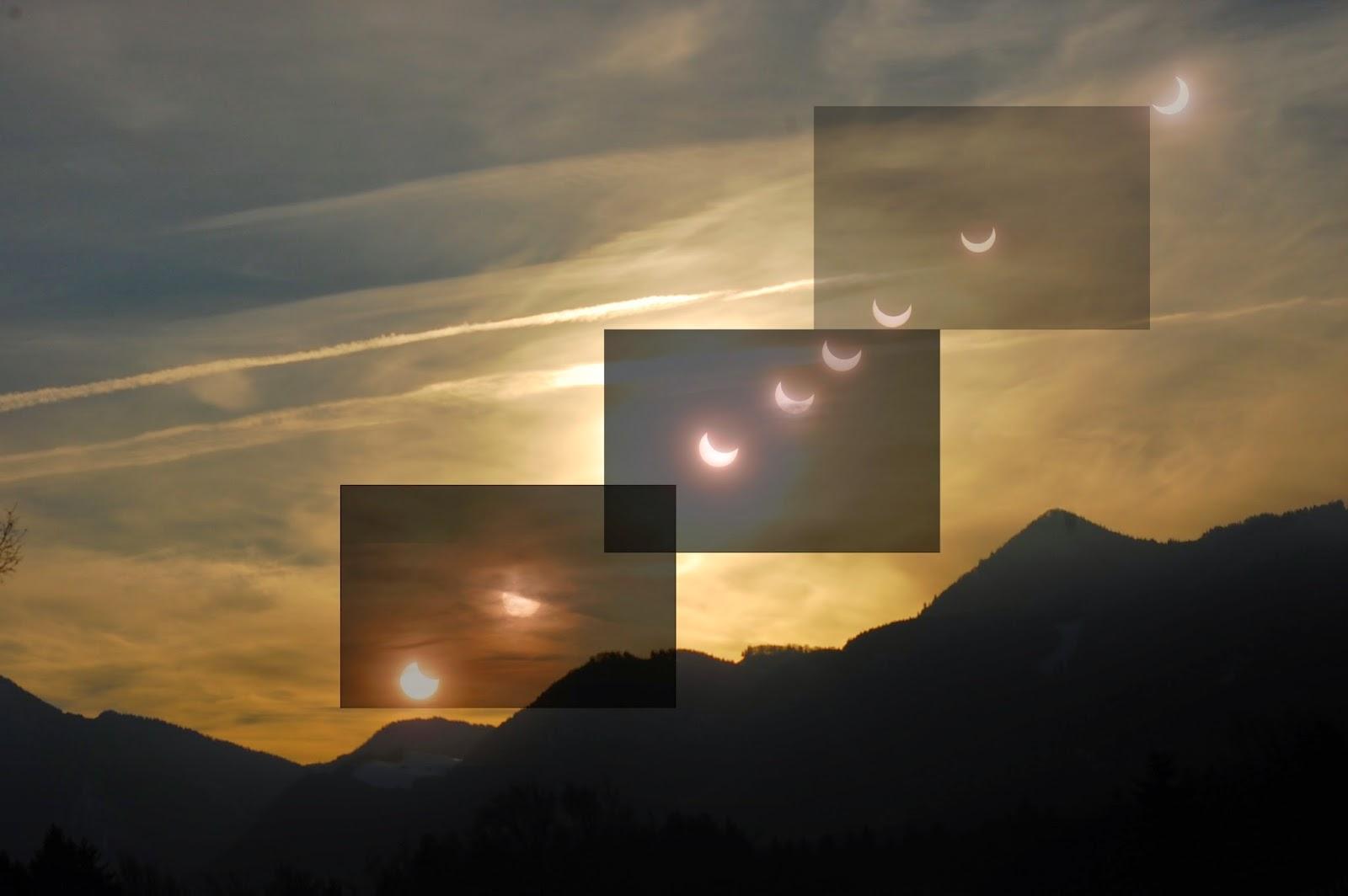 Partielle Sonnenfinsternis Montage