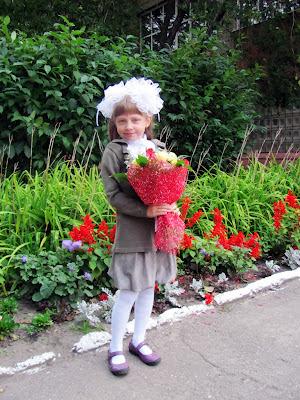Настя идет в школу, Томск 1 сентября 2012