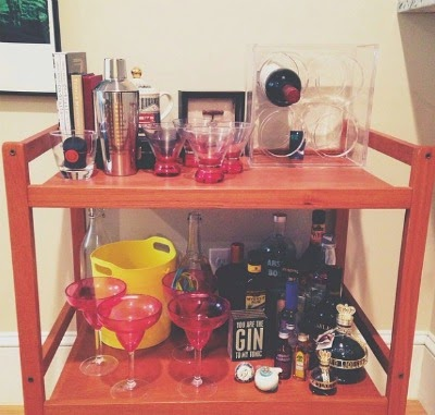 bar cart styling