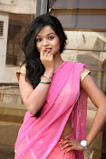 Bhavya Sri Photos in Pink Halfsaree-thumbnail-4