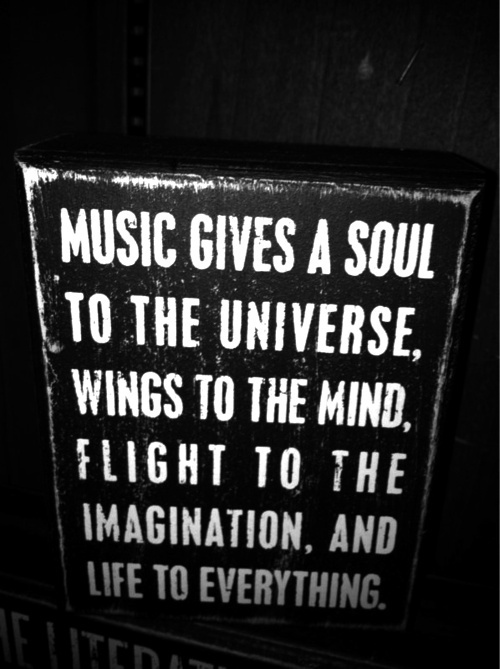 inspirational picture quotes music gives a soul to the