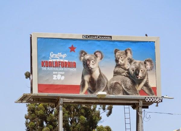 Greetings from Koalafornia San Diego Zoo billboard