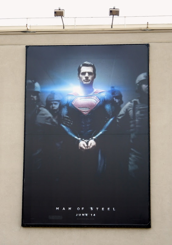 Man of Steel teaser billboard WB studios