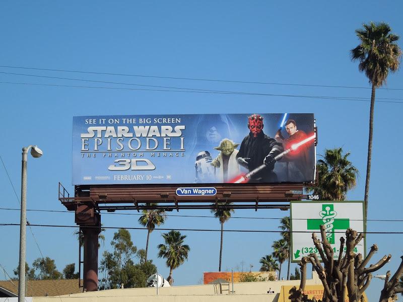 Star Wars Phantom Menace 3D billboard
