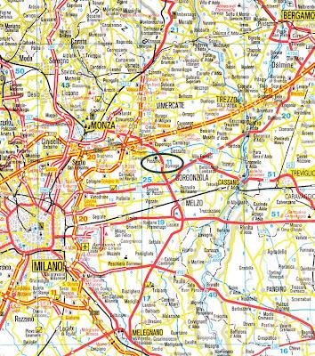 Trail Mappa della Città di Milano