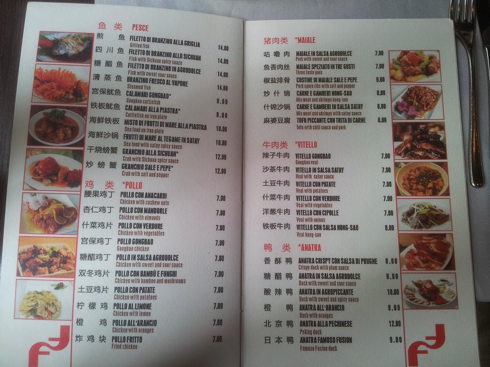 Menu e prezzi ristorante giapponese famoso fusion in for Menu cinese