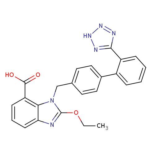 Struktur Kimia Candesartan / Kandesartan