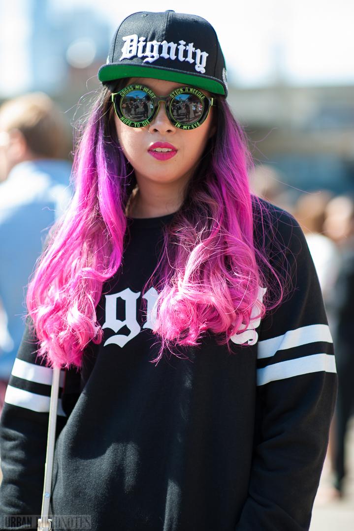 pink hair dignity cap
