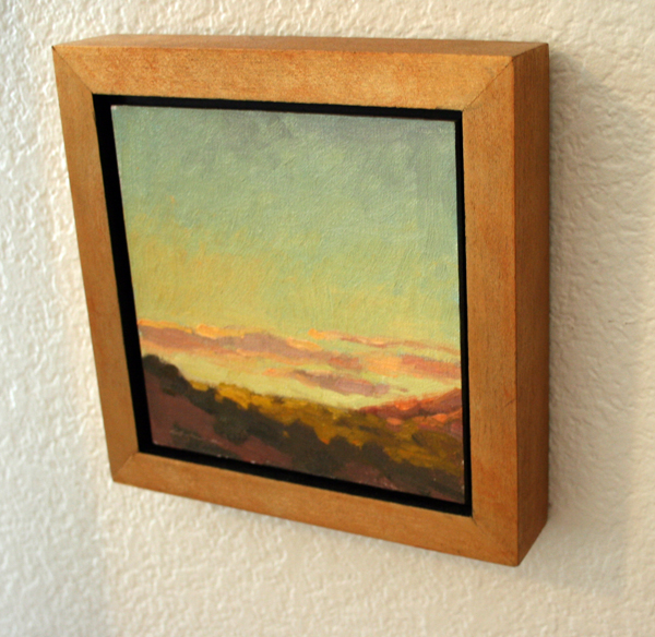 matt sterbenz fine art how to make simple floater frames for your plein air paintings. Black Bedroom Furniture Sets. Home Design Ideas