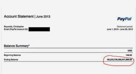 kesalahan pembayaran online paypal