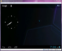 VirtualBox - Android-x86 Home Screen