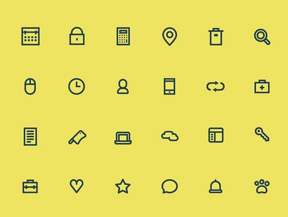 24 tiny icons – PSD