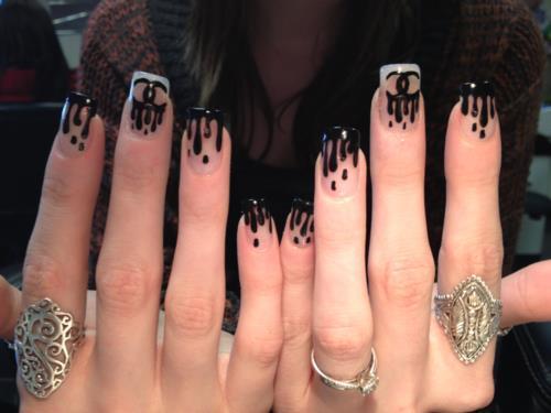 The Astonishing Black and white nail designs 2015 Pics