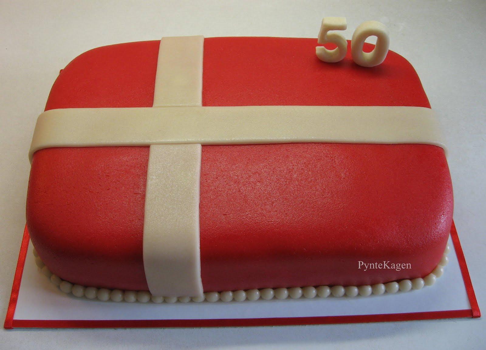 kage til 50 års fødselsdag