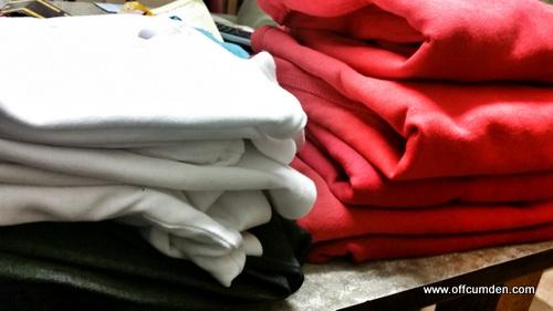 Folded ironing