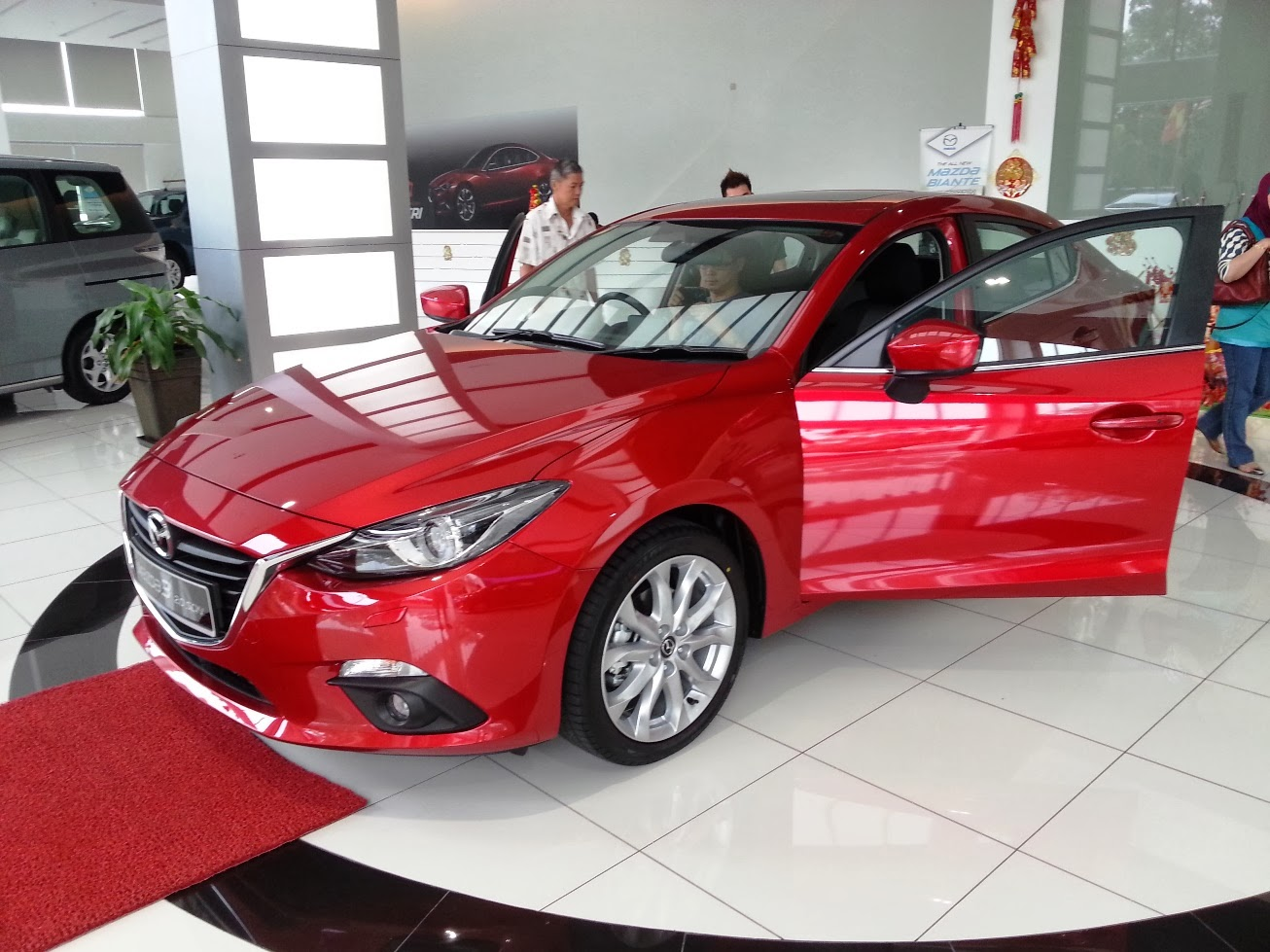 The new 2014 mazda 3 launched malaysia sports bodykit modified version