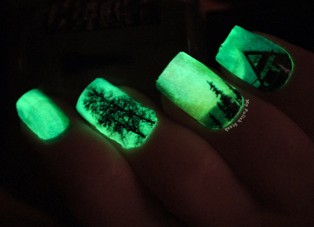 Born Pretty Store Glow in the Dark Nail Art Stickers