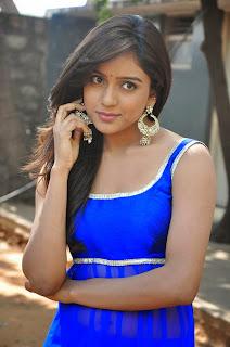 Actress Vithika Sheru Latest Pictures in Blue Salwar Kameez at Paddanandi Premalo Mari Movie First Look Launch  1