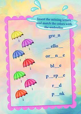 colors worksheet for children
