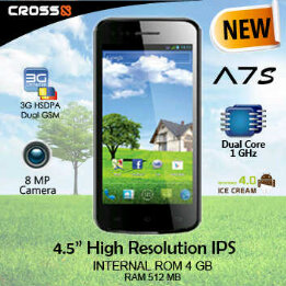 Harga Cross Andromeda A7S, Android ICS Murah 4,5 Inci