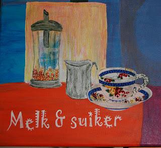 Vandaag een kleine impressie van mijn grote schilderij zie blog