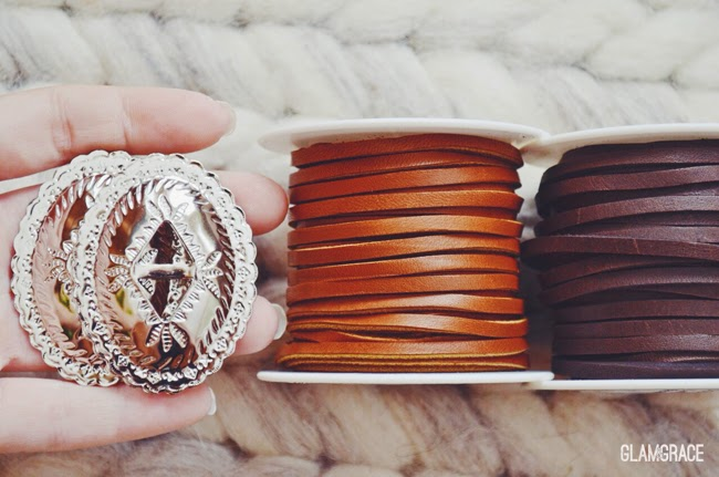 leather strand concho belt DIY