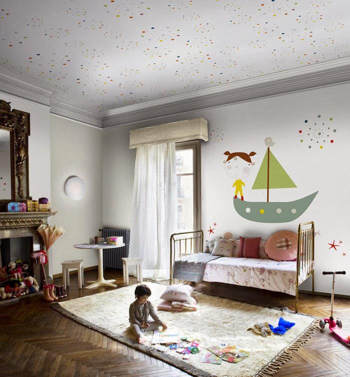 Murales pintados para decorar las paredes de un cuarto infantil