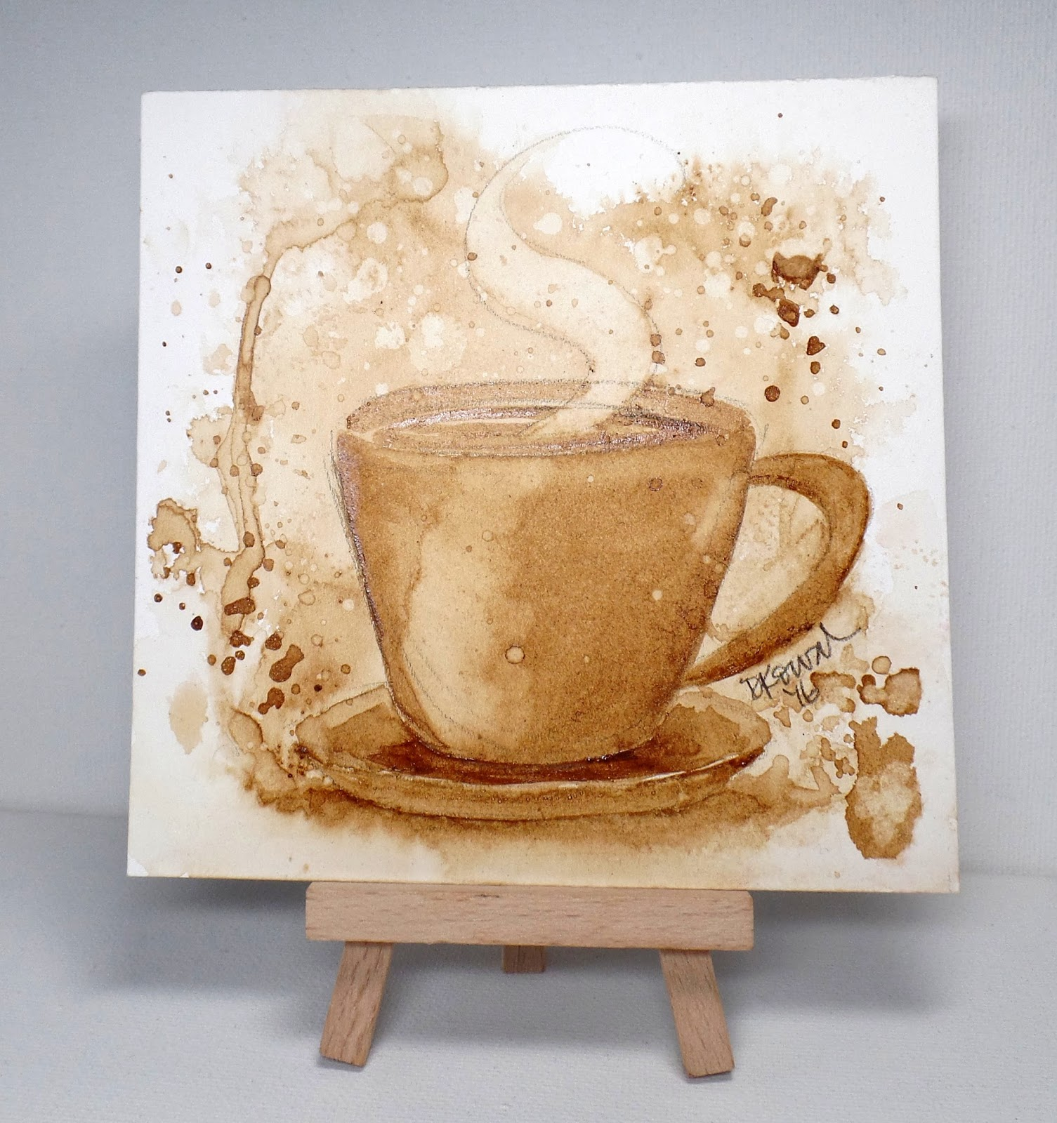 Dina kowal creative mix ability challenge painting with for Painting with coffee