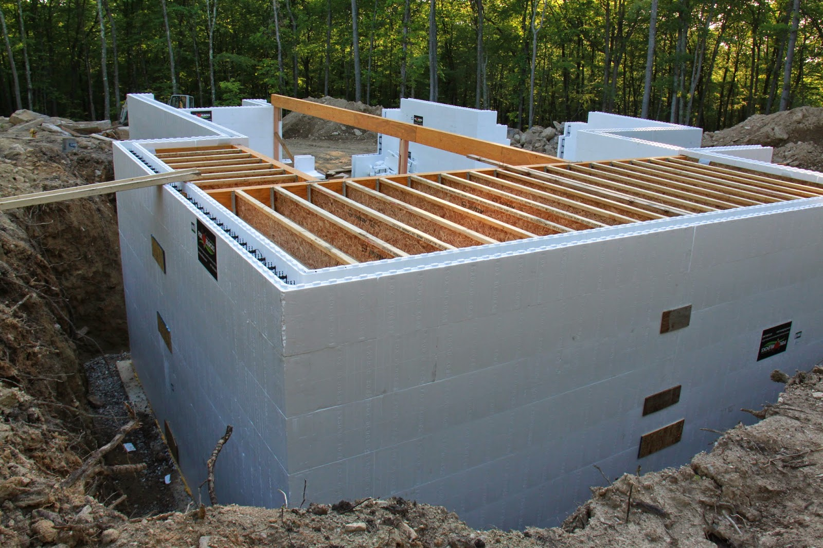 Our new england energy star icf home build june 2014 for Icf floor