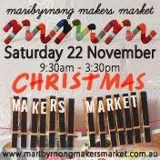 We will be at the Maribyrnong Makers Market