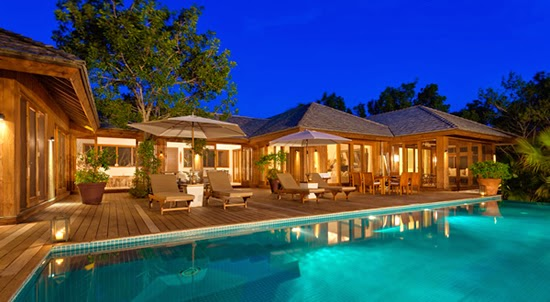 Luxury home for sale in Turks and Caicos - the property at night