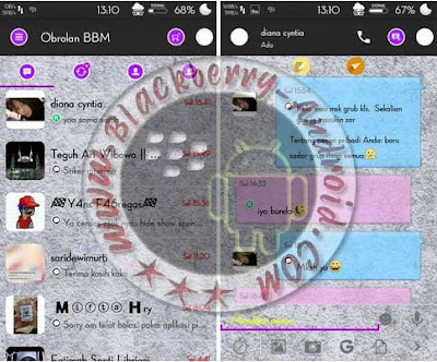 BBM MOD Simple Purple Versi 2.9.0.45 Apk